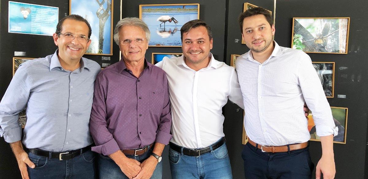 Deputado estadual Edmir Chedid, deputado federal Vanderlei Macris, Professor Rodrigo Parras e Marco Vinholi | Coordenadoria regional PSDB