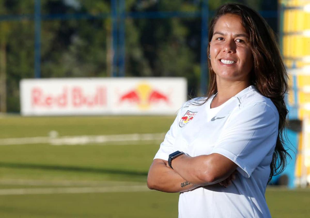 Camila Orlando chamou a atenção do Red Bull Bragantino pelo desempenho a frente do Internacional de Porto Alegre, com 71% de aproveitamento e apenas uma derrota | Ari Ferreira/Red Bull Bragantino
